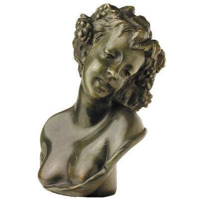 Szőlőfürtös görög női fej