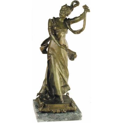 Legyezős női figura, márványon