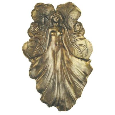 Hamutál, szecessziós, női figurával