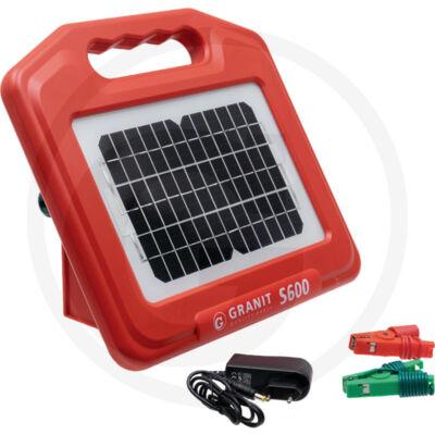 GRANIT S600 napelemes villanypásztor-készülék-akkumulátorral