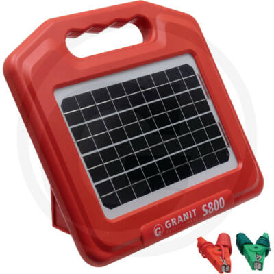GRANIT S800 napelemes villanypásztor-készülék-akkumulátorral